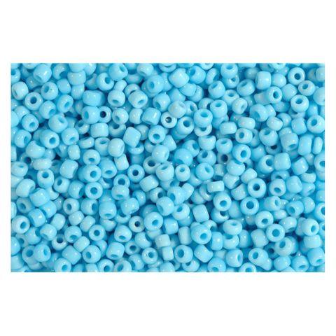 Rocailles blau türkis opak 2,5mm Perlen - 30g (ca. 1.000 Stück)