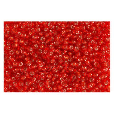 Rocailles Silbereinzug 2,6mm Silverline Perlen rot - 500g Großpackung (ca.19000 St)