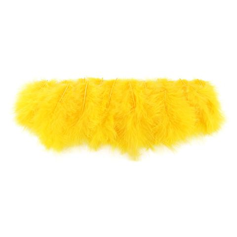 Marabufedern gelb zum Basteln & Dekorieren, 10cm, 15 Stück