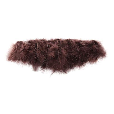 Marabufedern braun zum Basteln & Dekorieren, 10cm, 15 Stück