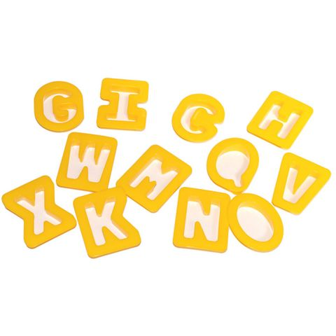 ABC Ausstechformen-Set Alphabet, 28-teilig - Buchstaben Formen für Knete – Bild 2