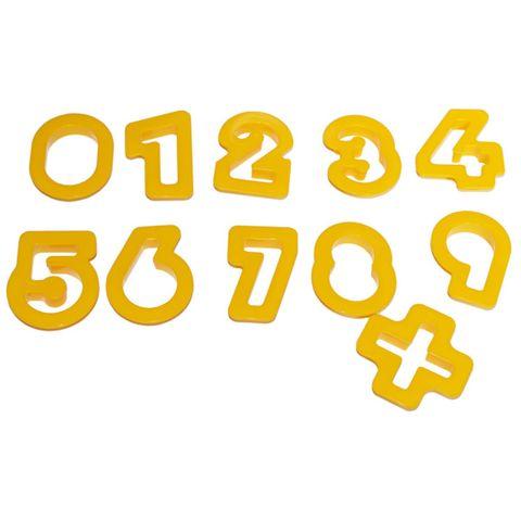 Ausstechformen-Set Zahlen, 11-teilig - Ziffern Formen für Knete