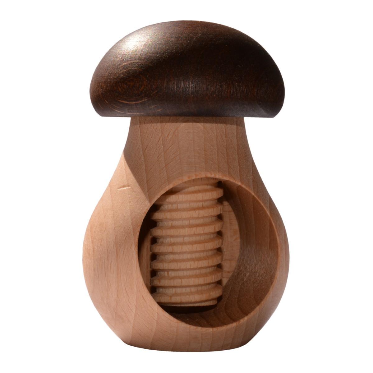 nussknacker pilz aus holz mit schraube zum einfachen knacken von n ssen. Black Bedroom Furniture Sets. Home Design Ideas