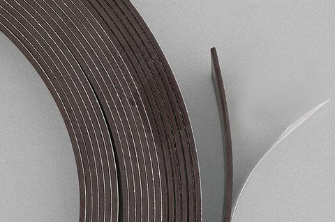 Magnetband selbstklebend 10 Meter Rolle - Breite 12,5mm - Stärke 1,5mm