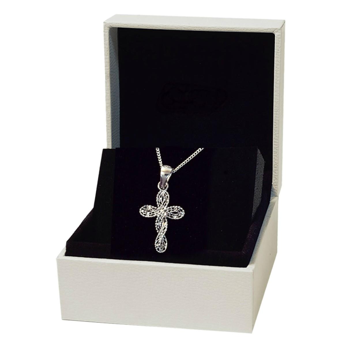 taille 7 prix de détail meilleure qualité pour Collier argent - Chaine avec pendentif Croix femme en argent fin 925