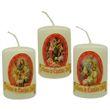 Weihnachtskerzen - 3 kleine Wachs-Kerzen im Set, Ø 4cm, Höhe 6cm