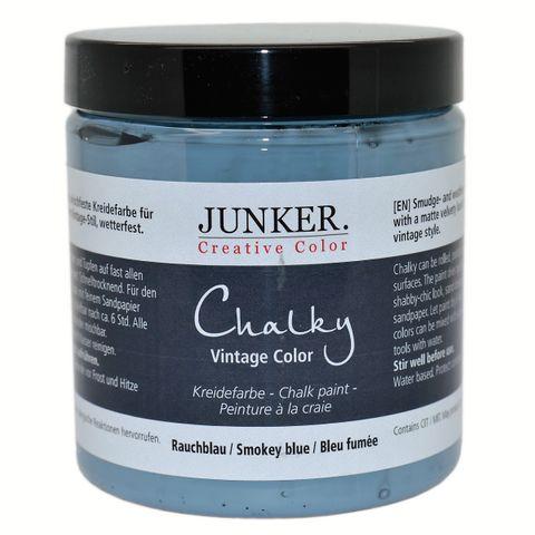 Kreidefarbe Chalky Vintage Color 250ml, Rauchblau - Junker Creative Color – Bild 1