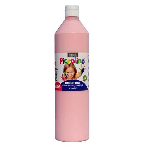 Piccolino Fingerfarbe Rosa, 750 ml Flasche – Bild 1