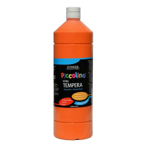 Piccolino Ready Mix Schultempera Farbe Orange 1000 ml
