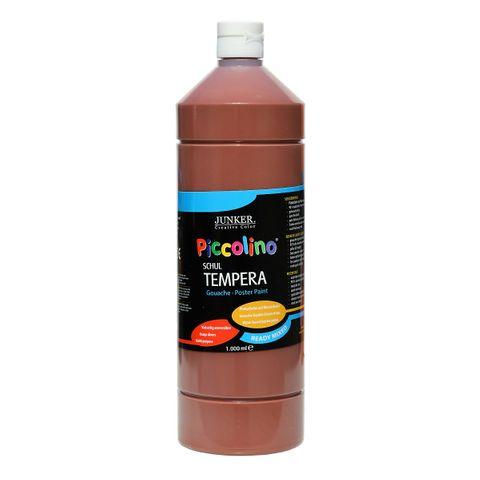 Piccolino Ready Mix Schultempera Farbe Dunkelbraun 1000 ml