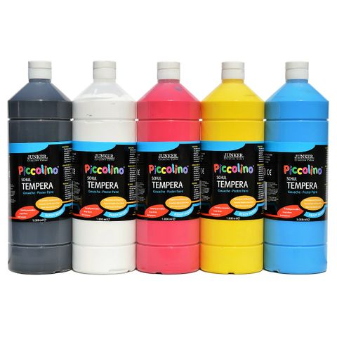 Piccolino Ready Mix Schultempera Primär-Farben Set 5x1000 ml