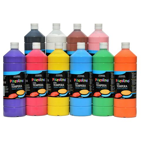 Piccolino Ready Mix Schultempera Farben Set 10x1000 ml