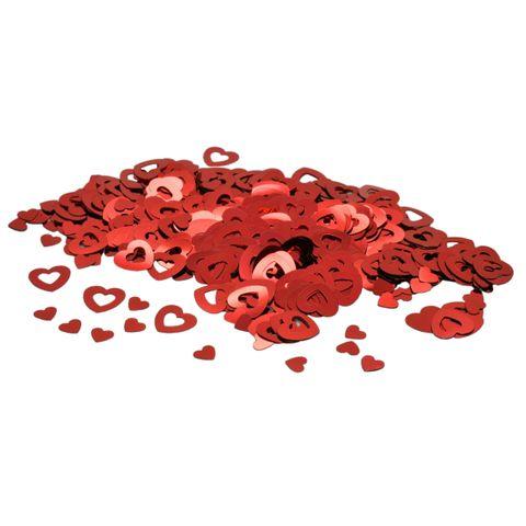 Streukonfetti Tischkonfetti Streudeko Herzen rot 2 Größen 6/13mm, 10g/600 Stk
