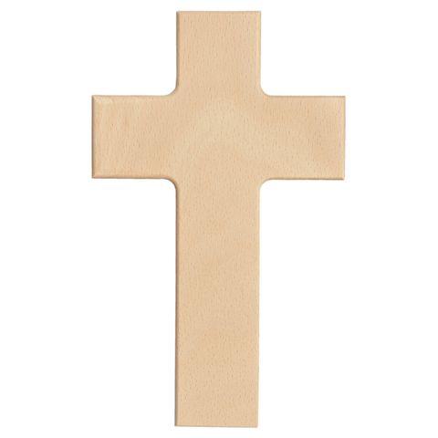 Blanko Holzkreuz - Wandkreuz Buche natur zum Selbstgestalten 20x12cm – Bild 1