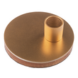 Bougeoir bois et métal, or,  pour bougie chandelier, socle Ø 13cm Bild 2