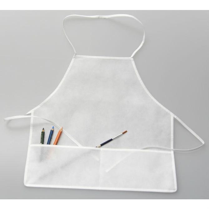 Malkittel Vliesstoff, Kinder Schürze 64x49cm - weiß zum Bemalen mit Stoffmalfarbe