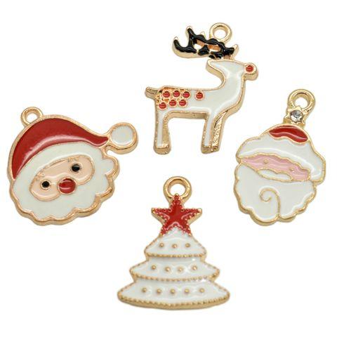 4 Weihnachts-Charms Anhänger - Bettelarmband Anhänger Weihnachtsschmuck