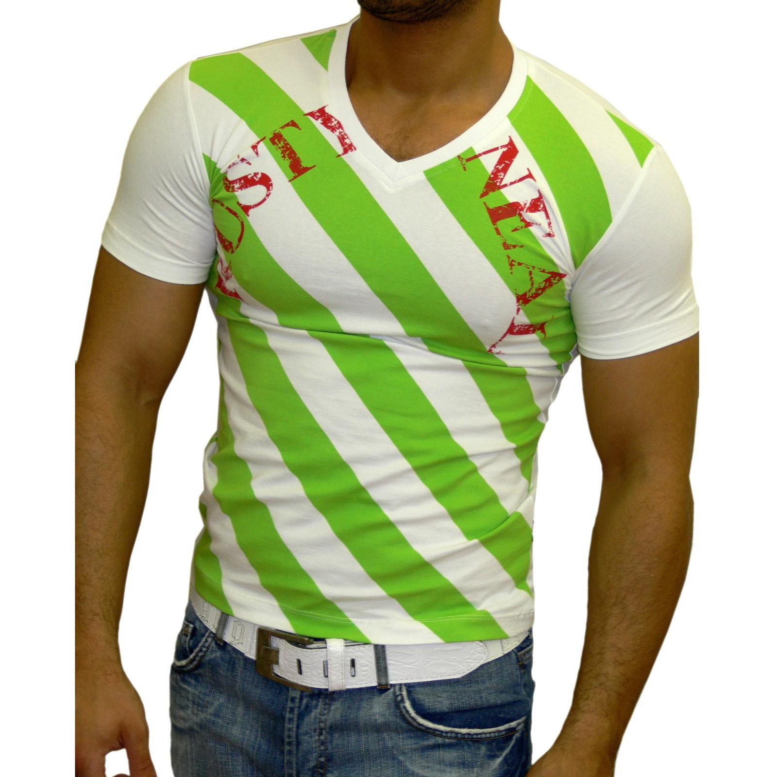 T-Shirt 951 Braun/Weiss Rusty Neal