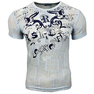 T-Shirt 515 Hellblau Rusty Neal Kurzarm Rundhals Angebot 515RN