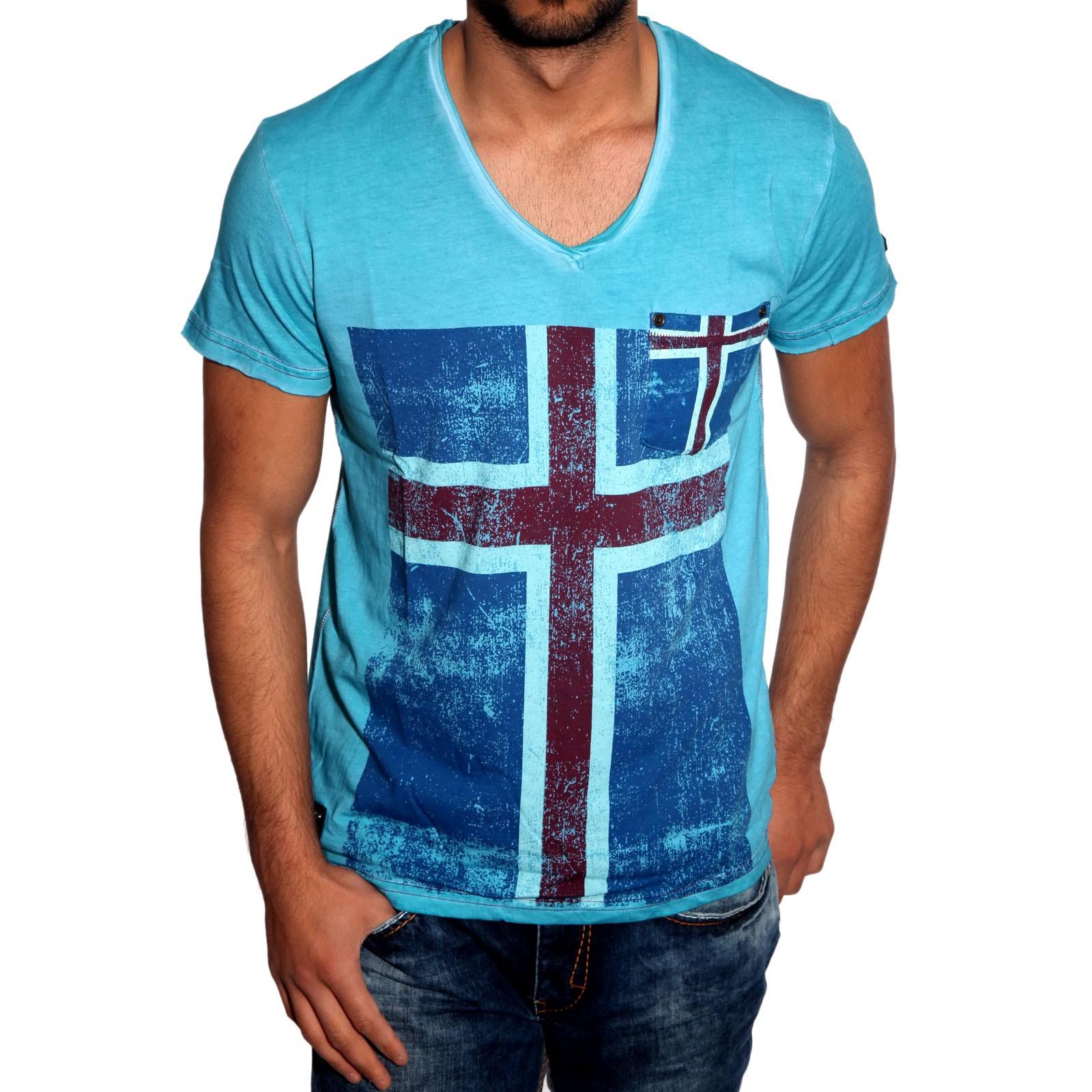 T-Shirt Türkis 6640 R-Neal