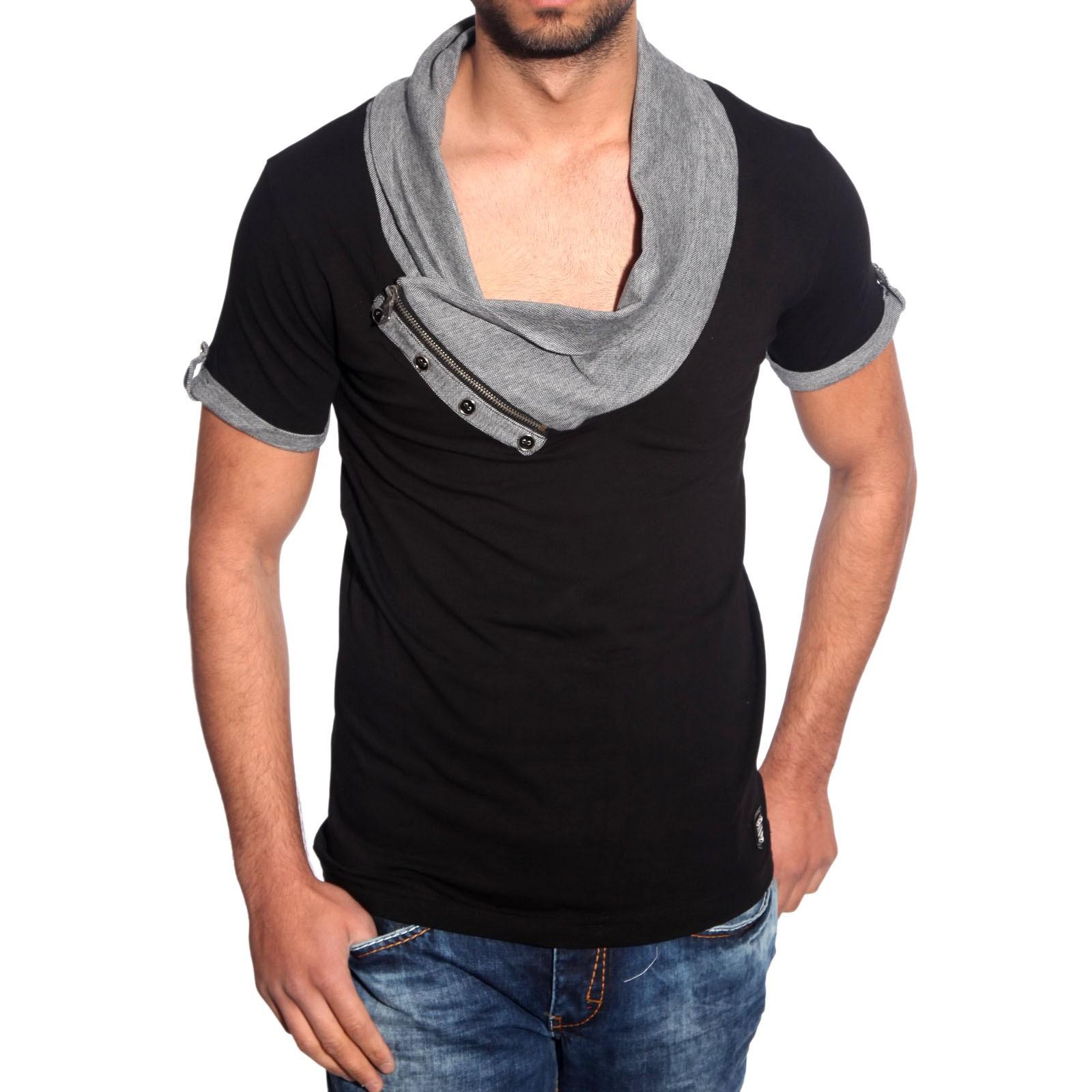 T-Shirt Schwarz 6660 R-Neal