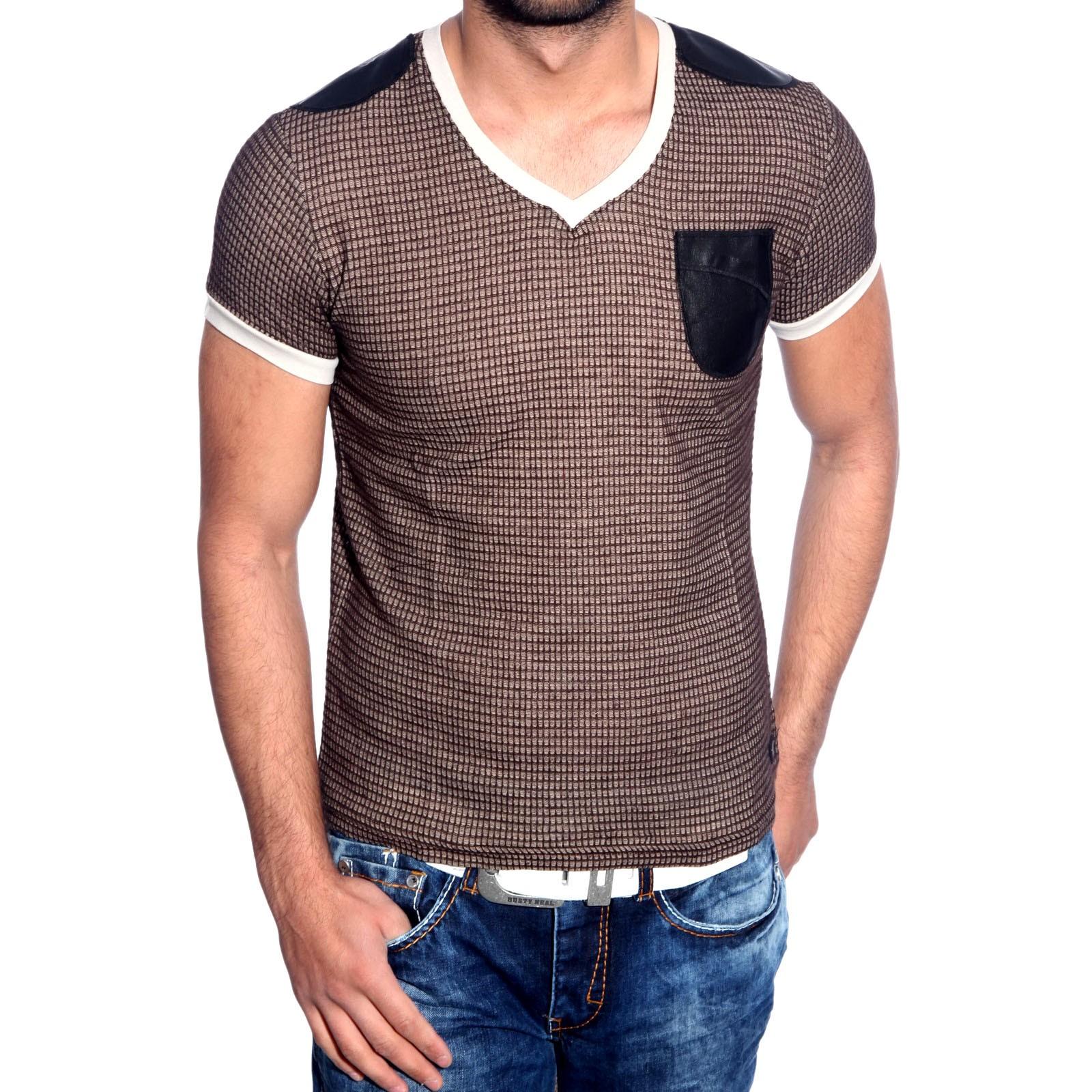 T-Shirt Braun 6684 R-Neal