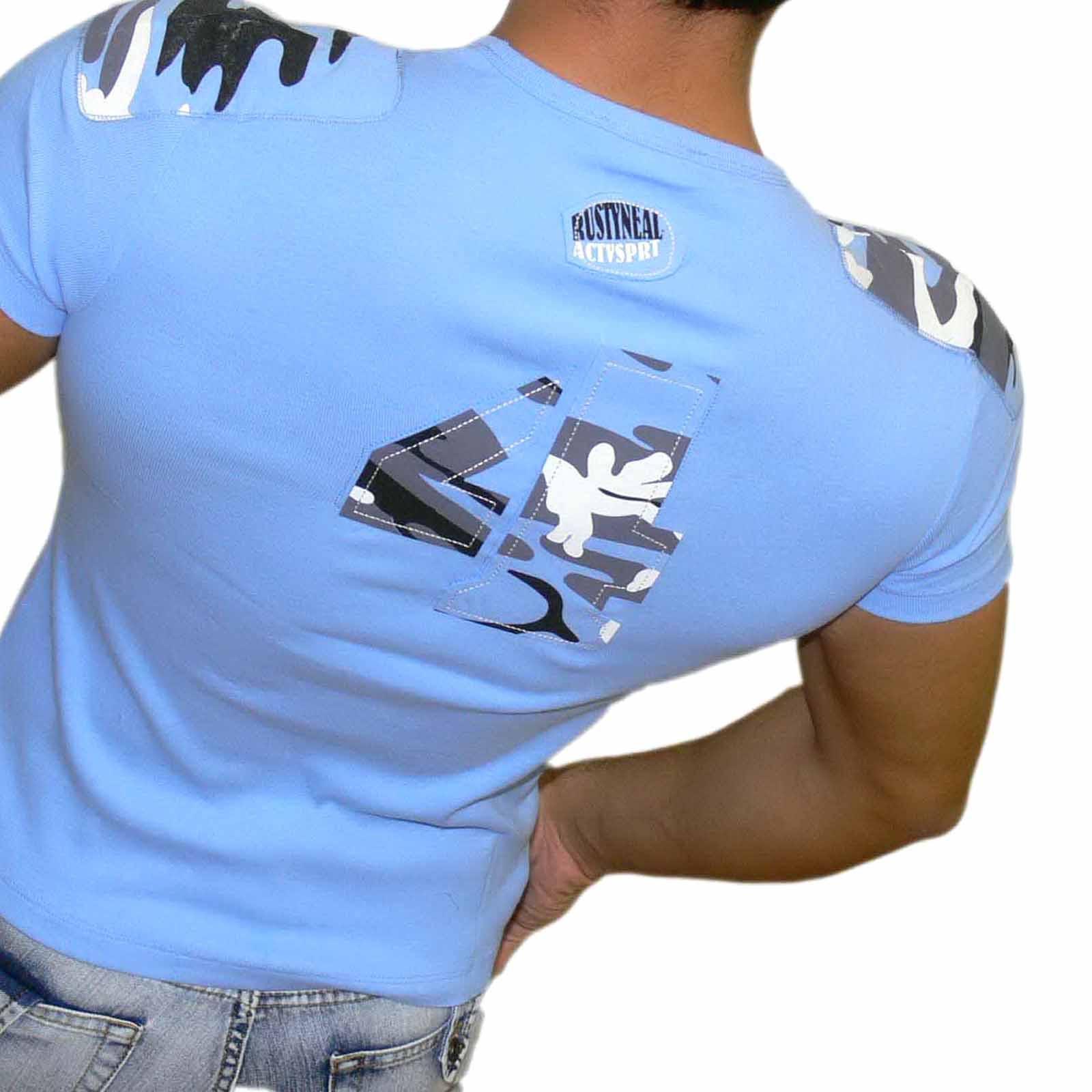 T-Shirt Blau 714 Rusty Neal