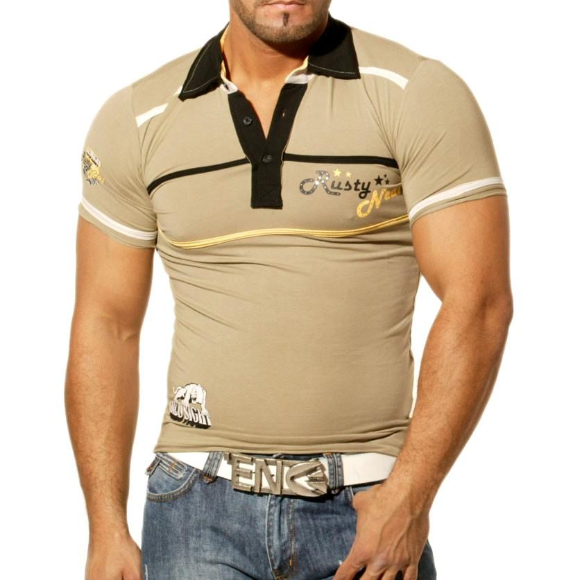 Poloshirt T Shirt für Herren Männer Jungs Jungen V Ausschnit Avroni A403RN