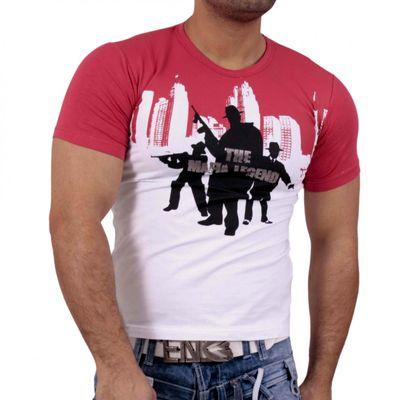 T-Shirt Rot Weiss 1636 Rusty Neal
