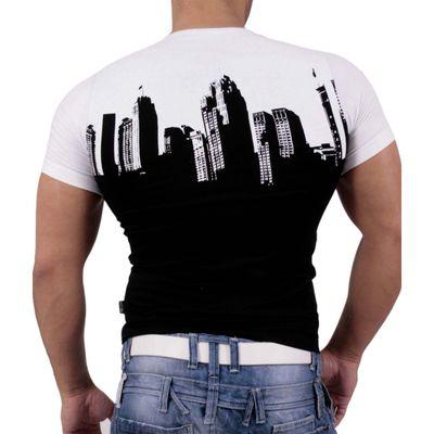 T-Shirt Weiss Schwarz 1636 Rusty Neal