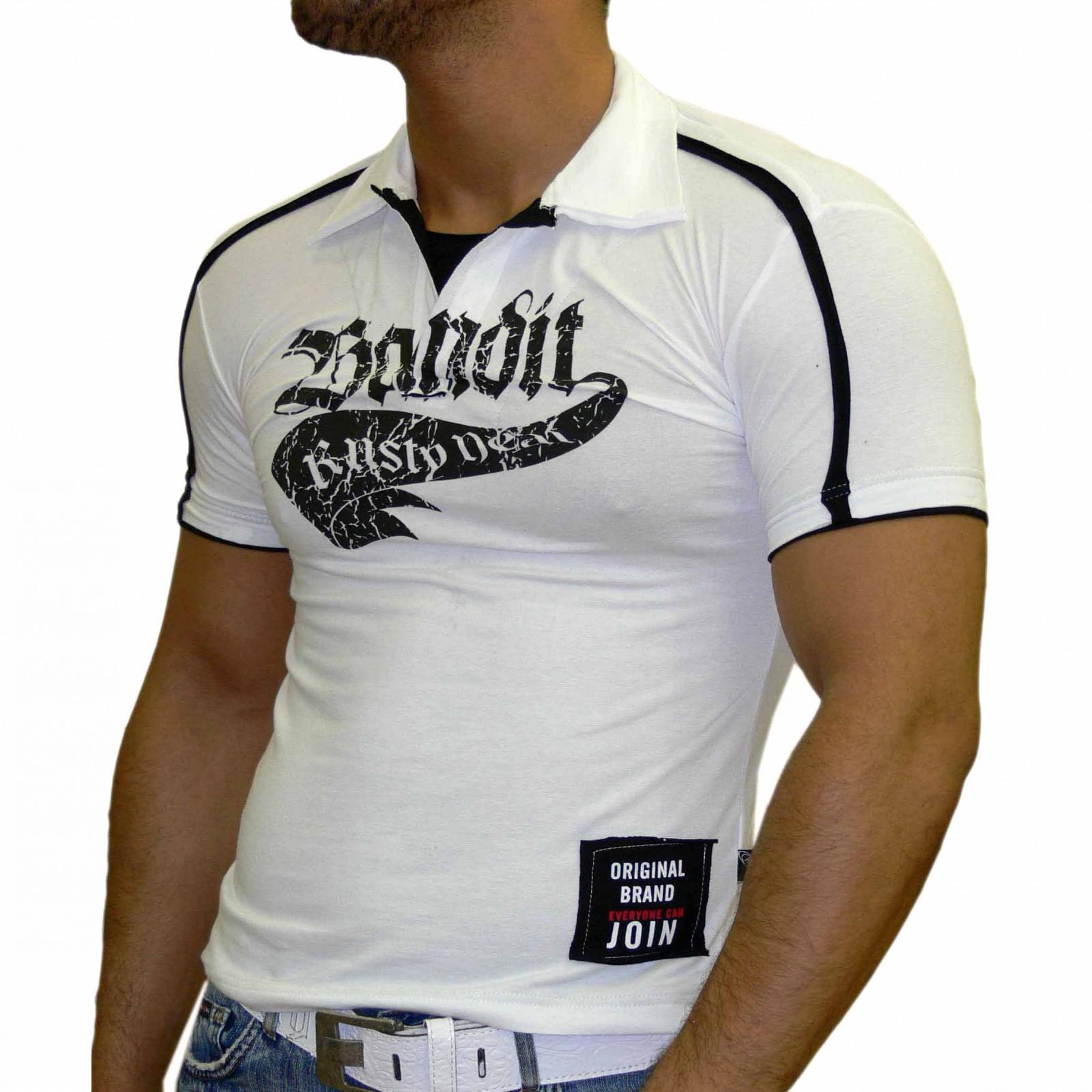 T-Shirt Schwarz 653 Rusty Neal Herren Poloshirt