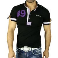 Polo T-Shirt 5073 Schwarz Rusty Neal 001
