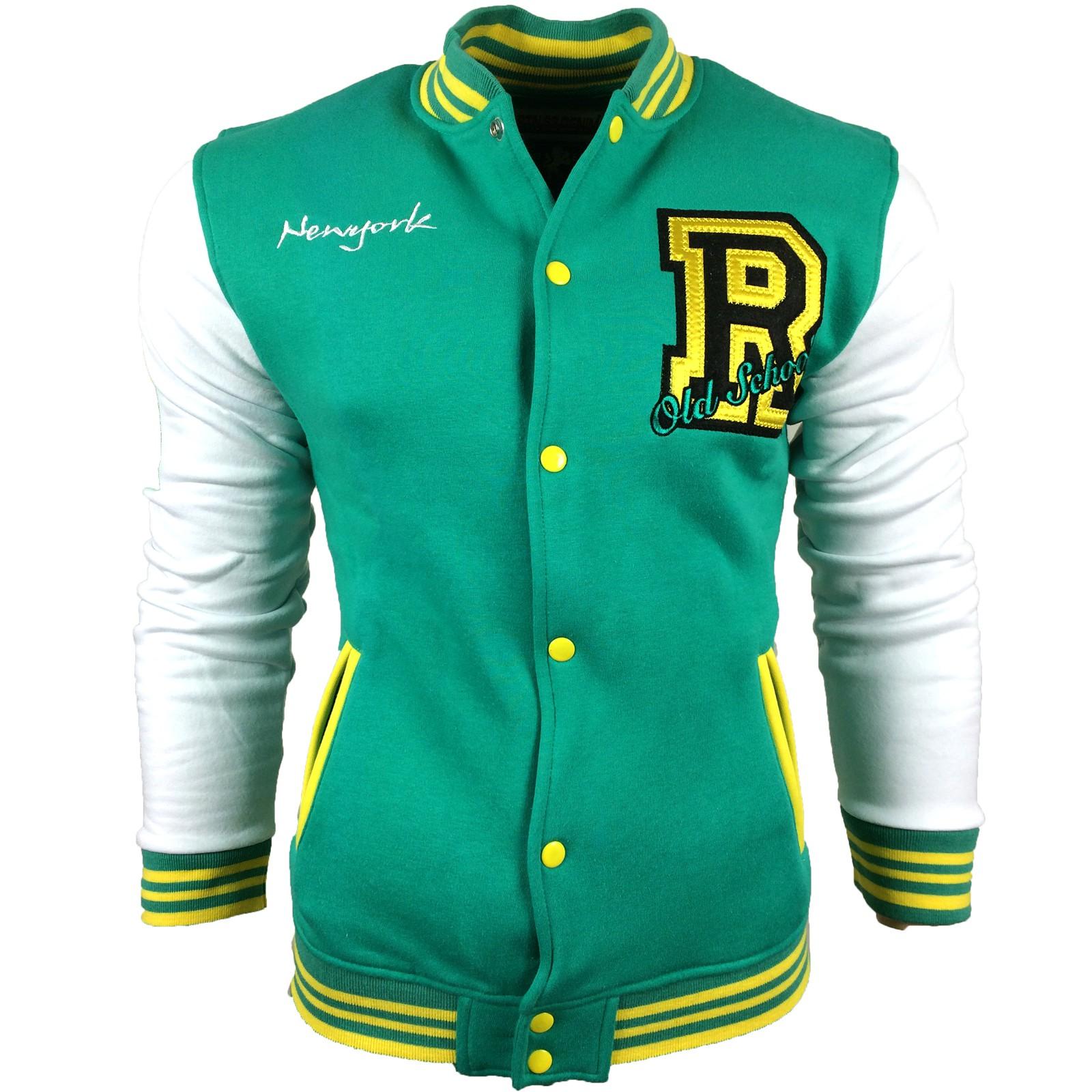 Sweatshirt Sweat College Jacke Herren 6883-1