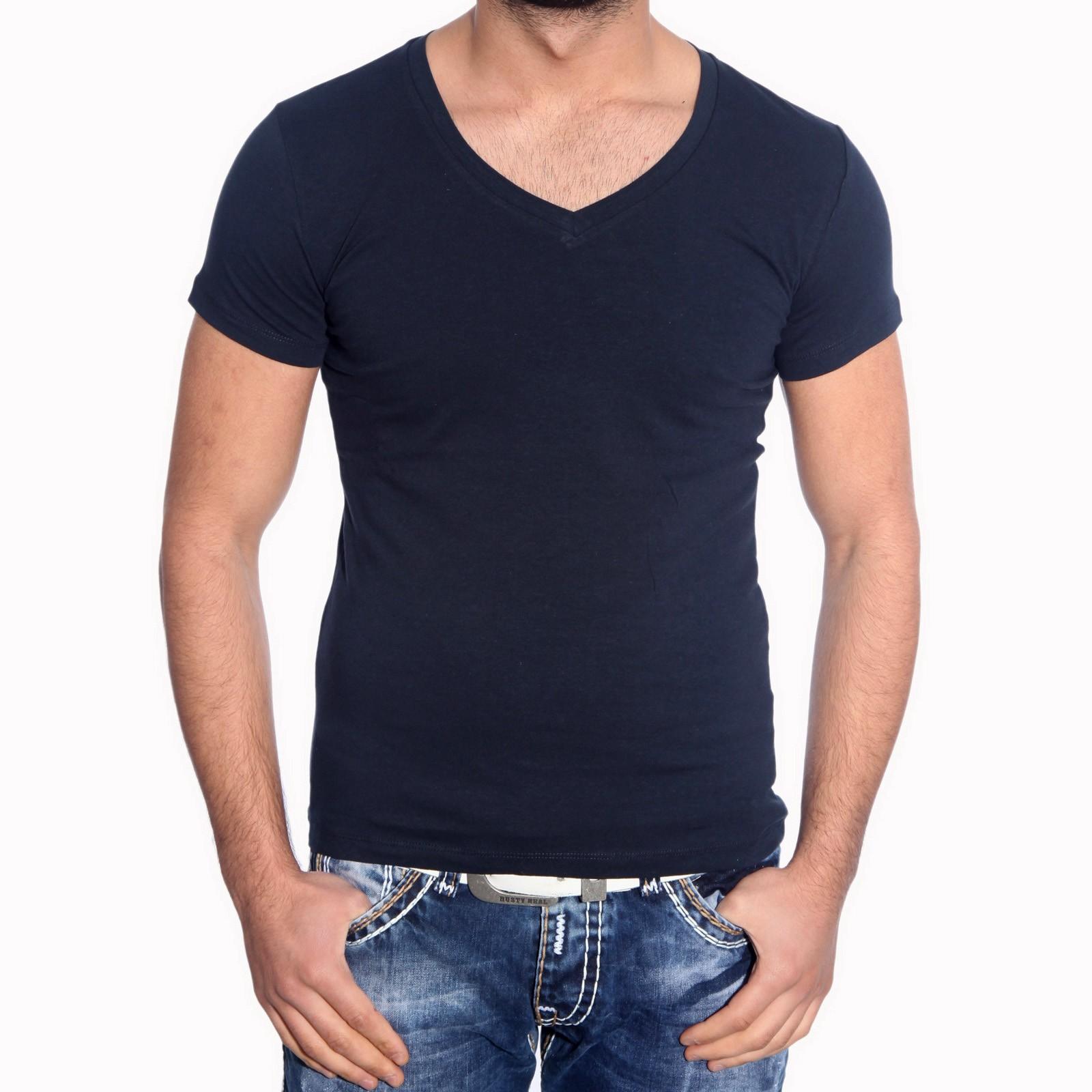 T-Shirt 6650 R-Neal Uni V-Neck Herren