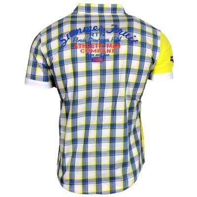 Hemd Karo 8222 Türkis Gelb Blau R-Neal Herren Shirt
