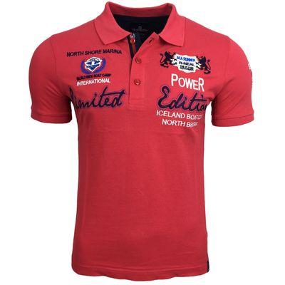 Poloshirt T-Shirt Polo Weiß Blau Schwarz