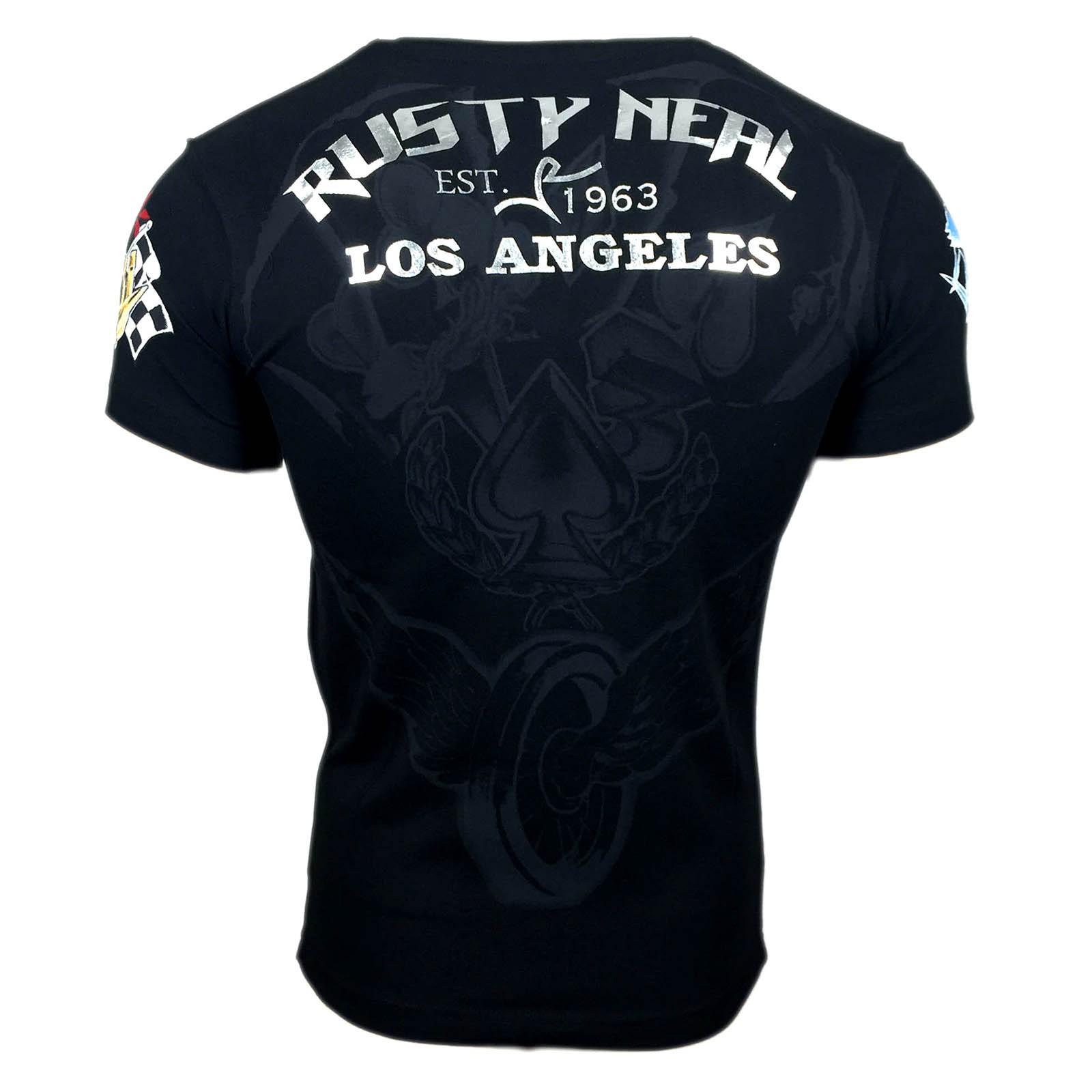 T Shirt Herren Schwarz Poker Lucky