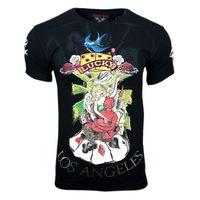 T Shirt Herren Schwarz Poker Lucky 001