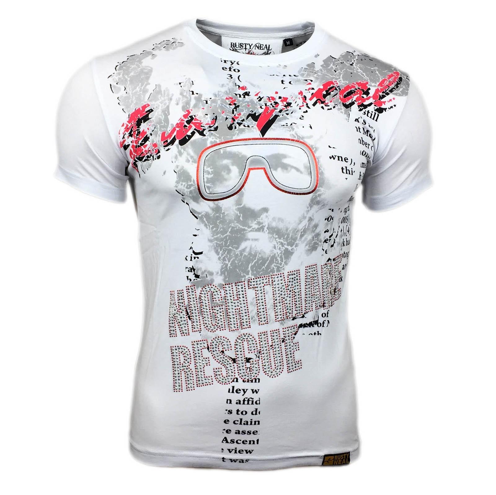 T Shirt Herren Kurzarm Weiß