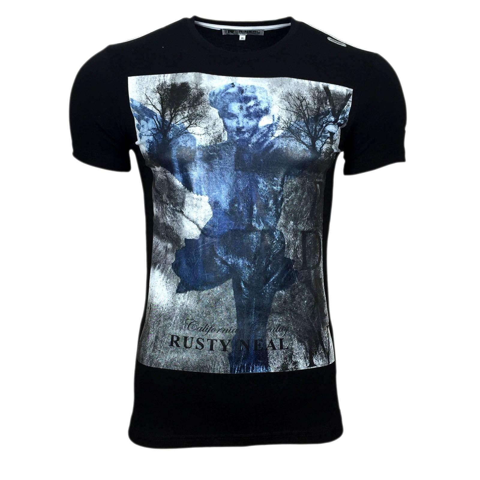 T Shirt Herren Kurzarm Schwarz