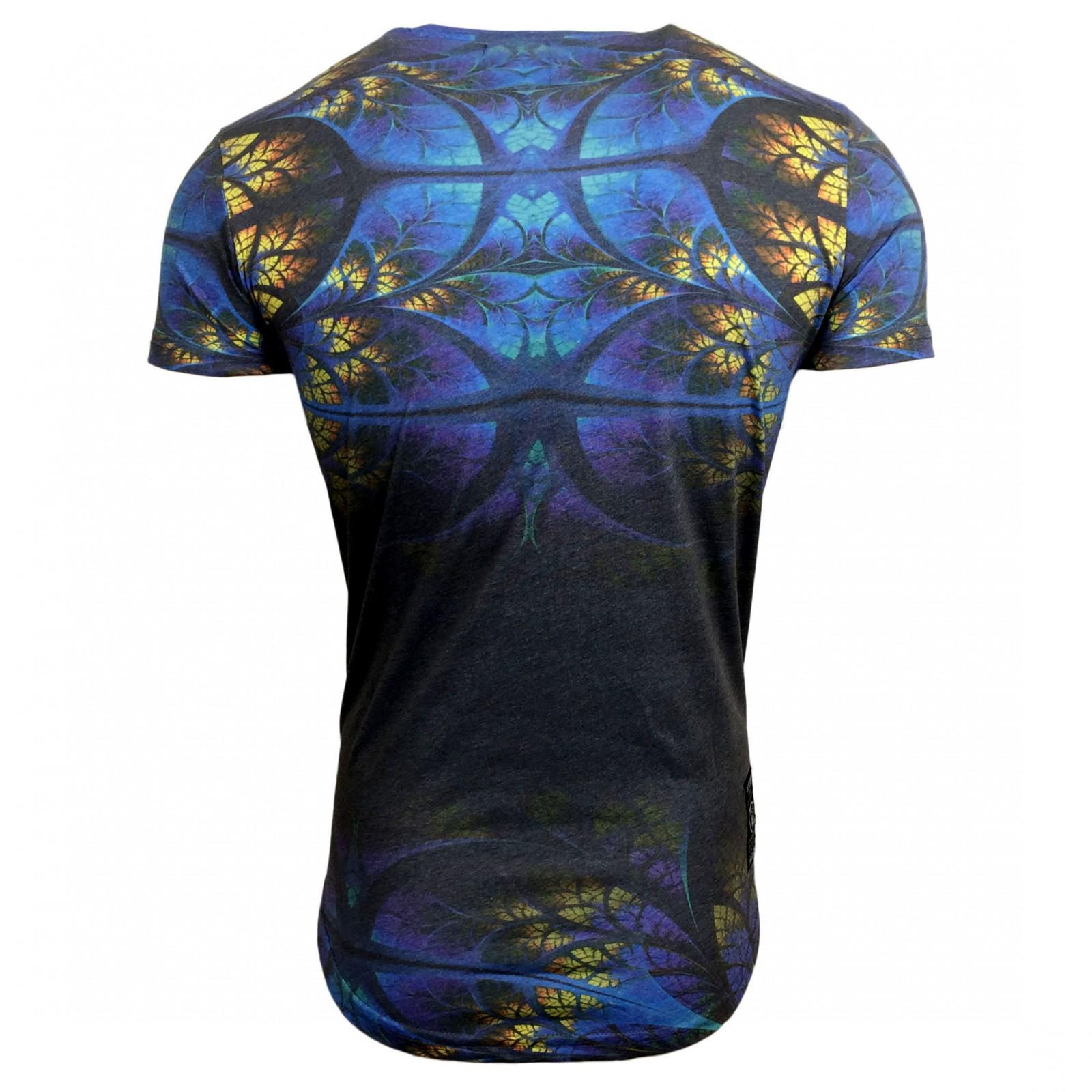 T Shirt Herren Kurzarm Grau Print Motiv A16834