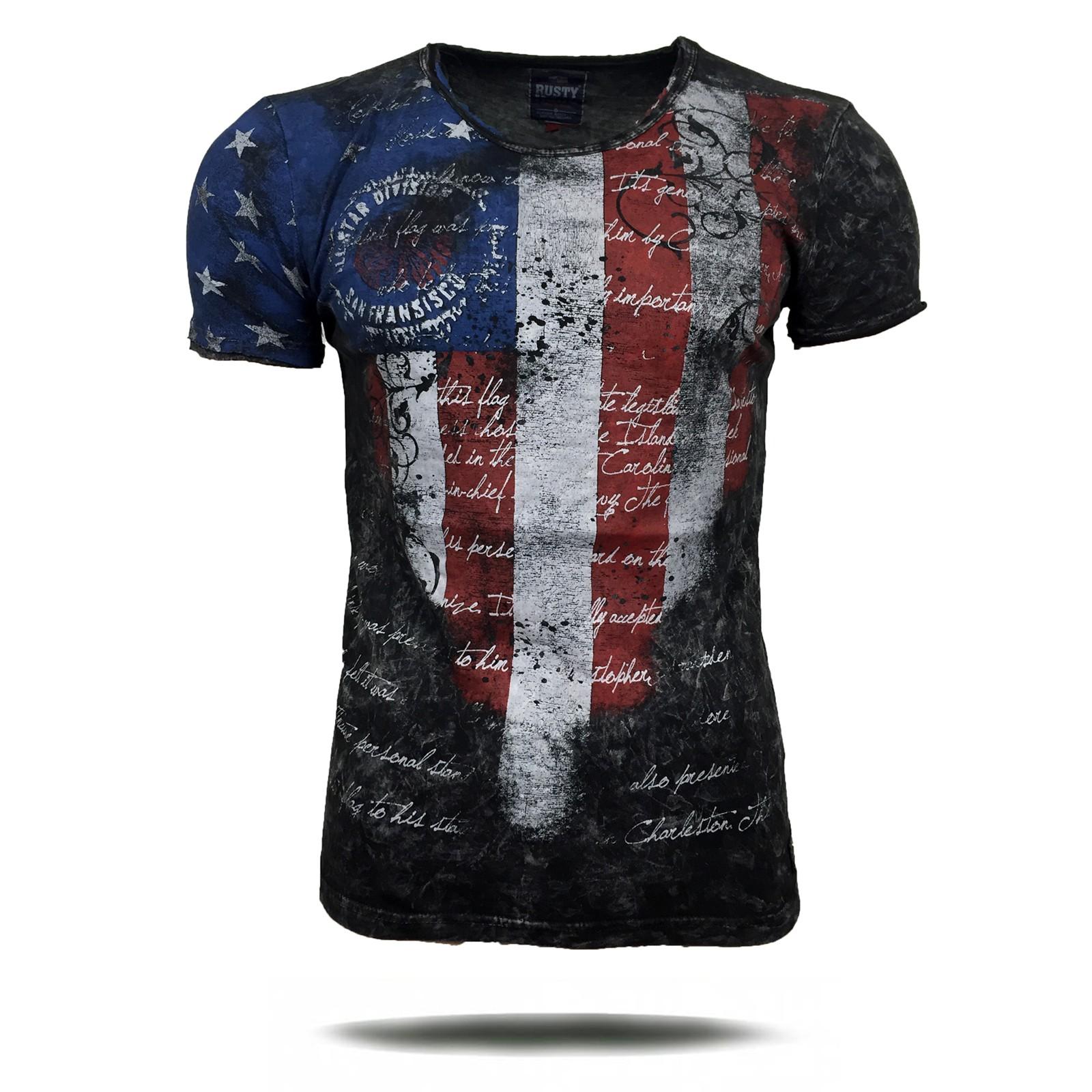 T Shirt Herren Kurzarm Print Motiv A16770