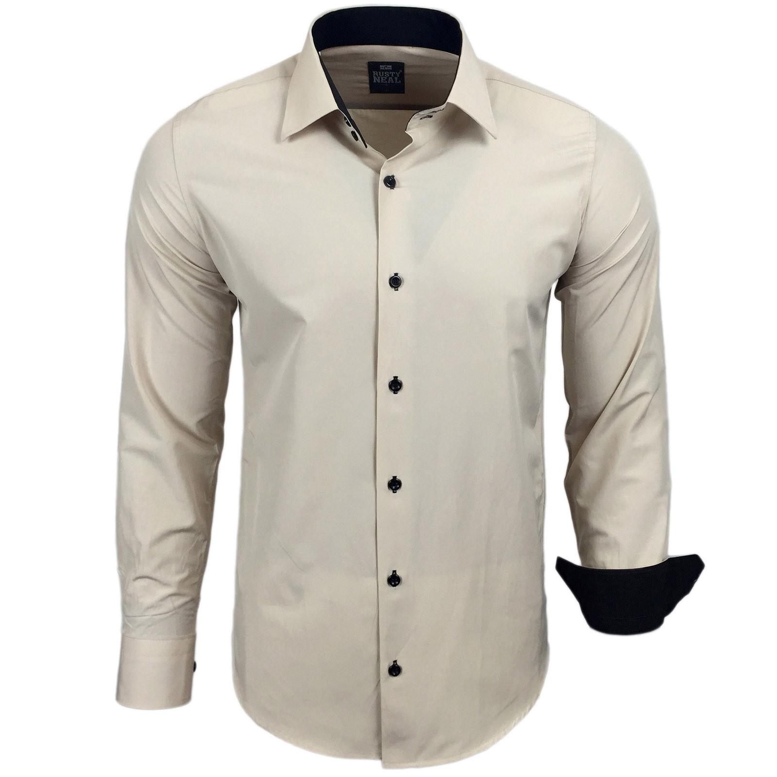 80955f99210656 Herren Hemd Beige Herren Hemden