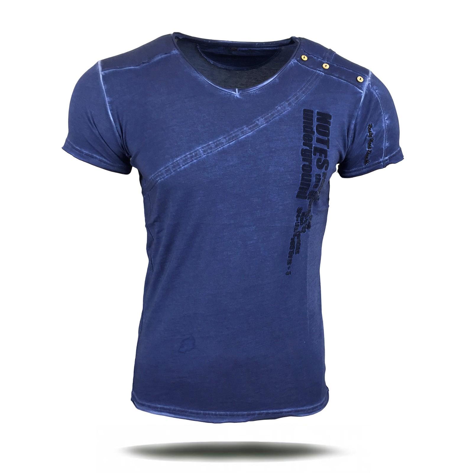 T Shirt Herren Kurzarm Print Motiv A1-RN6781-Y