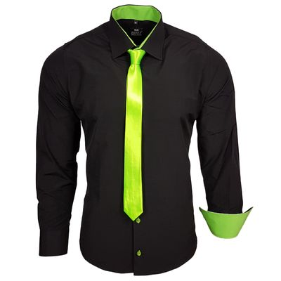 Herren Hemd Black Edition mit Krawatte