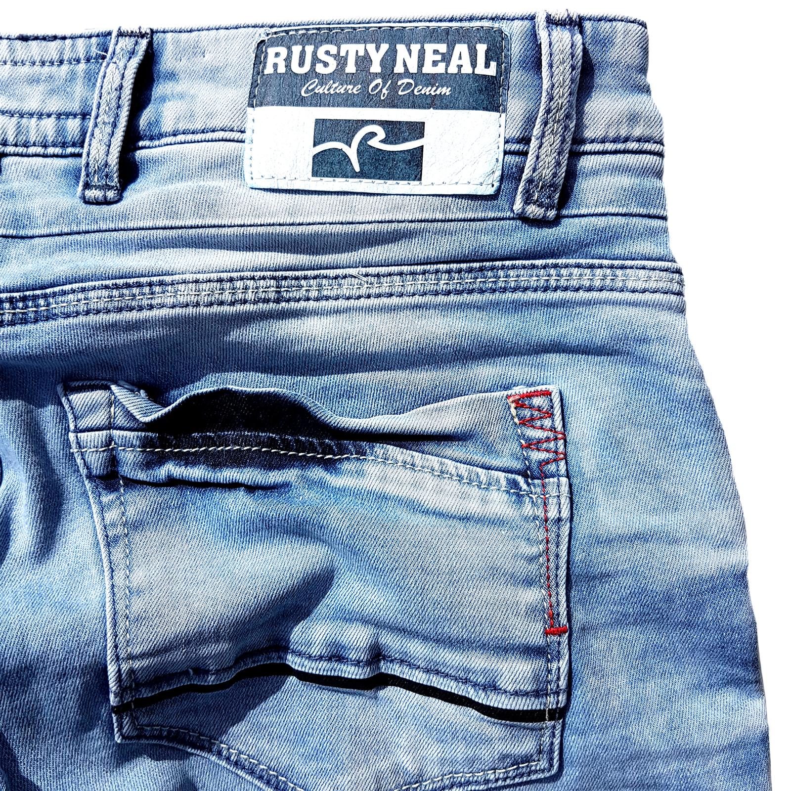 Kurze Jeans Hose Herren Shorts Pants Mix136 Rusty Neal