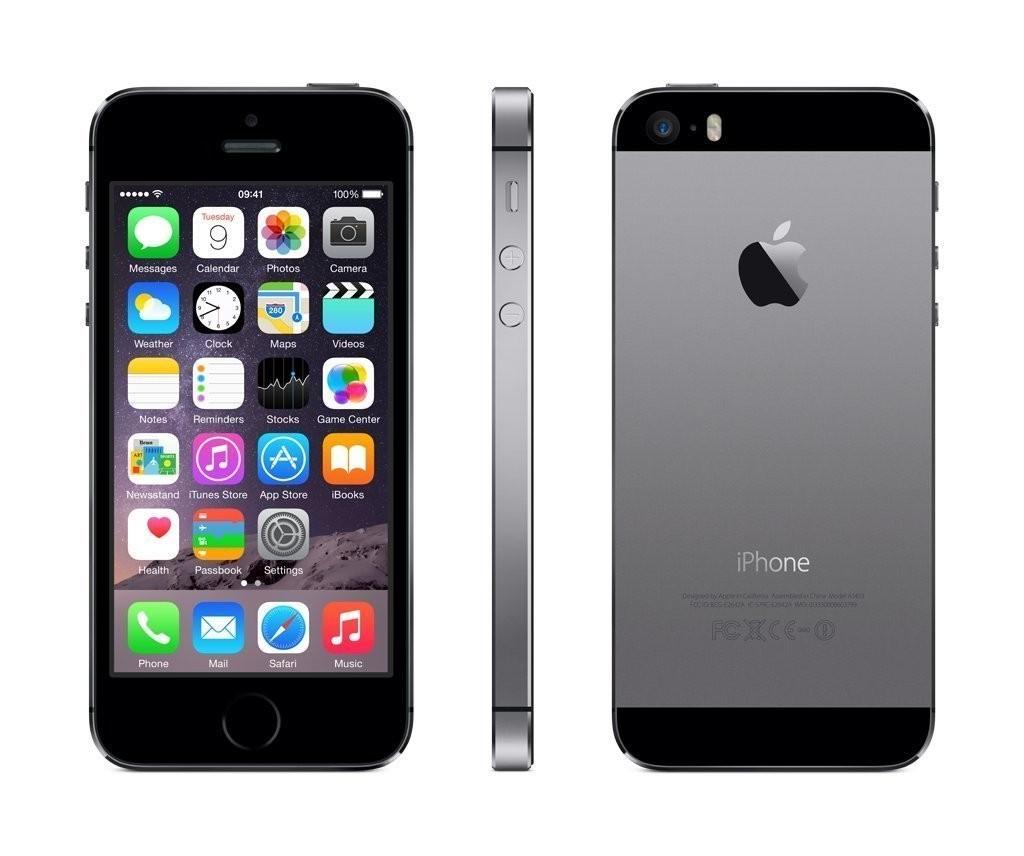 apple iphone 5s smartphone 32gb 4 zoll ips retina touchscreen 8mp grau ebay. Black Bedroom Furniture Sets. Home Design Ideas