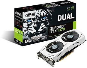 Asus Dual GeForce GTX1070-8G Gaming Grafikkarte, Nvidia, PCIe 3.0, GDDR5 Speicher – Bild 1