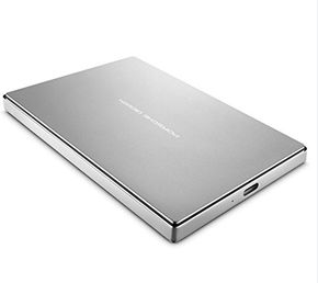 "LaCie Porsche Design STFD2000400 Mobile Drive 2TB, externe Festplatte 2,5"" USB-C platin – Bild 1"