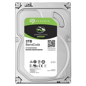 "Seagate Barracuda 3TB ST3000DM007 SATA-600 3,5"" 256MB 5400RPM, HDD"